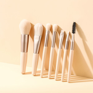 Mini 7pcs Portable Makeup Brushes Set For Foundation Blush Eyeshadow Highlighter Eyebrow 2 Colors Face Make Up Cosmetic Tools