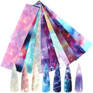 10PCS مسمار رقائق ملصقات 3D سحر النجوم ورقة لاصق الشارات الرخام المجسم نقل مسمار الفن ملصق الديكور SA1022