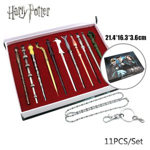 11pcs Harry Magic Wand Creative Magic Tricks Bambini Giocattoli per bambini Halloween Cosplay Performance Puntelli Gift Box Confezione Christmas