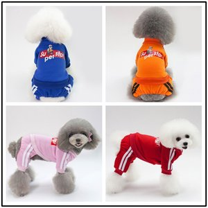 Dog Clothes Shirts Super Dogs Big Clothing Pet Outfits Cute Cotton Autumn Winter Sweater Pug Letter Red Boy Ropa Para Perro