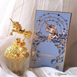 Bottiglia di spruzzo di vetro dorata EDT di disegno speciale del profumo delle donne di qualità superiore 75ml Alta qualità La stessa marca Trasporto libero