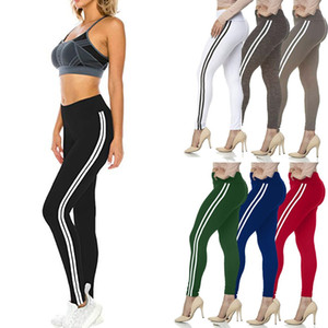High Waist Seamless Leggings Women High Waist Double Lined Solid Skinny Sports Yoga Leggings Pants sports wear for women gym#9