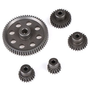 11184 Metal Diff Main Gear 64T 11181 Motor Pinion Gears 21T Truck 1 10 RC Parts HSP BRONTOSAURUS Himoto Amax Redcat Exceed 94111