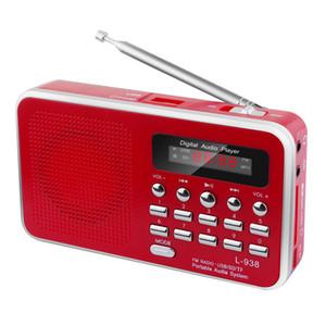 L-938 راديو FM الرقمية FM محمول الداب محرك راديو RADYO الإعلام رئيس MP3 موسيقى دعم لاعب بطاقة TF USB مع شاشة LED