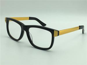 Luxury-new men glasses prescription full framed eyewear gold plated vintage sqaure frame G0229 italian designer women design