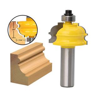 """1PC arquitectónico Bit Moldeo Router - 1/2"""" 8mm caña Línea cortadora de cuchilla de corte de la madera Tenon para Herramientas de la carpintería"""