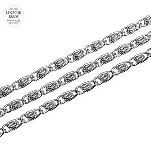 FASHION- 2 mm 3 mm Largeur inoxydable torsadés en acier ton argent chaîne bijoux Chaînes en vrac pour Colliers Bracelets Making Bijoux