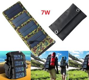 لوحات الطاقة الشمسية 7W محمولة قابلة للطي طوي مقاوم للماء لوحة للطاقة الشمسية شاحن موبايل البنك الطاقة لبطارية الهاتف شاحن USB ميناء