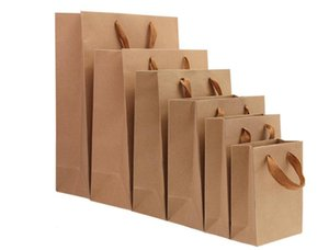 Vertical Bag Spot Wholesale Thickened Gift Kraft Paper Bags Custom Cothing Packaging Bags