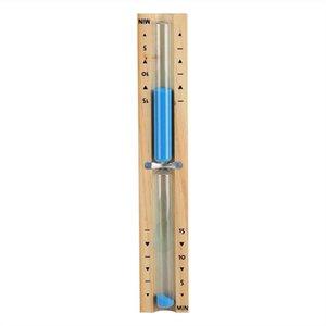 15 Minute Timer Sauna Hourglass Wall Rotating Sand Timer Countdown Clock 15 Minute (Blue)