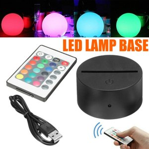 Home room decoration Led lamp base USB Touch switch Remote Control Night Light Acrylic 3D Led night lamp holder Assembled Base