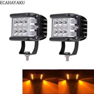 """2pcs 60W Led Light Work 4"""" polegadas LED de condução Luz Side Shooter 12V 24V Offroad Cubos Pods Strobe DRL para Jeep Truck SUV"""