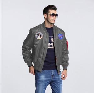 erkekler için ceket adam üniversite amerikan collbomber uçuş ceket uçan Moda-Yeni erkek giyim bahar Sonbahar ince NASA Donanma