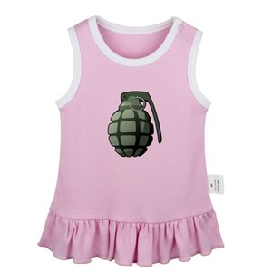 Hand Grenade Don't eat watermelon seeds I Accept Cookies Newborn Baby Girls Dresses Toddler Sleeveless Dress Infant Clothes