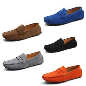 2020 novos homens sapatos casuais spadrilles de moda em couro adequados muito verde escuro azul-escuro tênis ao ar livre cair transporte rápido