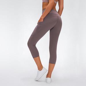 L2043 yoga Kadınlar Yoga Kıyafetler Bayanlar Sports kapriler Bayanlar pantolon egzersiz spor giyim kız yogaworld tozluk kırpar