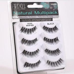 ARDELL eyelashes 4pair lot 100% Real Siberian 3D Full Strip False Eyelash Long Individual Eyelashes