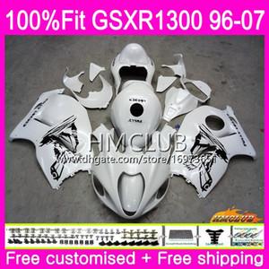 Einspritzung für SUZUKI Hayabusa GSXR1300 GSXR 1300 96 97 98 99 00 01 07 Perlweiß 22HM.18 GSX R1300 1996 1997 1998 1999 2000 2001 Verkleidung