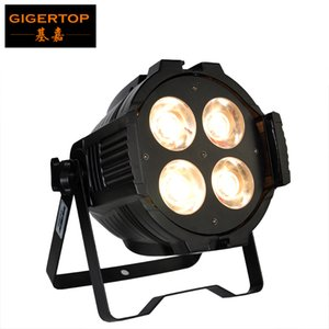Livraison gratuite Nouvelle arrivée 4 * 50W 2in1 Petite Rush PAR peut éclairer la lampe COB Lampe 90V-240V DMX 512 Contrôle lisse chaud blanc / froid blanc mélange de couleurs DJ