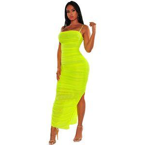 Moda de Nova plissadas Bodycon Slit verão sexy vestido de alta qualidade esticar vestido coreano vestidos tubo clube