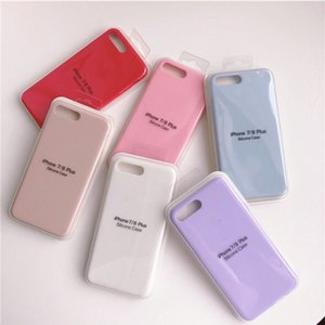 With LOGO Official Original Silicone Case For iphone 11 Pro Max XR X XS MAX SE2 8 7 6S 6 Plus Luxury Phone Cases Back Cover With Retail Box