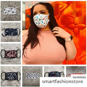 Luxury Designer Anti Dust Ultraviolet-proof Mouth-muffle Women Masks Protector Washable Sports Face Mask 12 Colors 2020