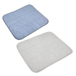 Microfibra Dish Secagem Pad Escorra Mat disco Pads Bacia Pad Coasters impermeável antiderrapante Tabela Tabela Decoração Acessórios de cozinha, jantar