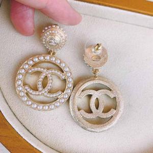 pendiente de gota de la calidad de lujo con la perla y forma hueca para las mujeres pendientes de la manera de boda regalo Jewlery PS5621 envío libre
