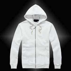 mens lauren ralph polo Lauren Ralph polo hoodies e as camisolas outono casuais sólida com uma jaqueta esporte capuz zipper melhor qualidade Transporte livre dos homens casuais
