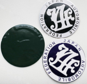 Japan Automobile Federation JDM paraurti anteriore Griglia JAF Nero Blue Badge Emblem Toyota
