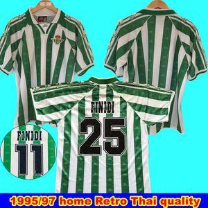 Retro Jersey 1995 1997 Real Betis Jogo Worn Menendez 3 Finidi 25 RIOS 21 Finidi 11 1995 97 Real Betis Retro Jersey