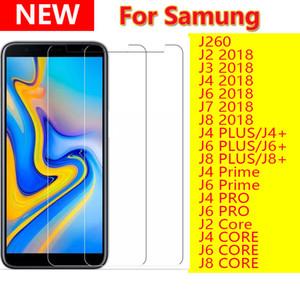 2.5d limpar vidro temperado protetor de tela do telefone para samsung galaxy j260 j2 j3 j6 j6 j8 j8 plus prime pro núcleo 2018 j4plus j6plus j8plus