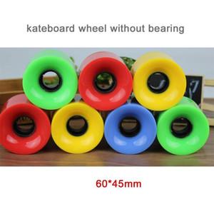 4pcs / set Cruiser Skateboard Roues Blank Pro 60x45 mm Longboard roue 22 pouces adapter à dos en plastique lisse Skate Board Riding