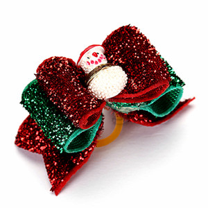 Natale pupazzo di neve arco copricapo con fascia di cuoio dei bambini di Natale copricapo pet Dog copricapo T3I5562