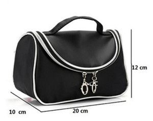 Hot New Brand M Famous brand Makeup Cosmetic Bags Retro Beauty Wash Case Zipper Handbag Makeup Bags free shipping