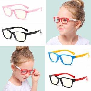 Silicone chiaro del bambino Anti-blu occhiali dei bambini di modo della montatura degli occhiali di protezione classica bambini flessibile Eyewear LJJT1011