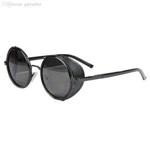 Wholesale-Best PrMirror Lens Round Glasses Cyber Goggles Steampunk Sunglasses Vintage Retro Nov2317