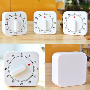 Wholesale 60 Minutes Kitchen Timer Count Down Alarm Reminder White Square Mechanical Timer for Kitchen High Quality
