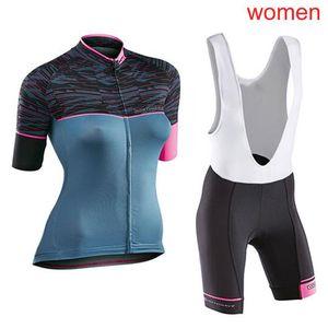 NW 2020 Mulheres de Verão Ciclismo manga curta Jersey BIB X71020 Set BTT Roupa de bicicleta Maillot Vestuário Sportswear