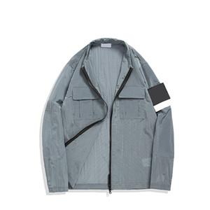 Topstoney 2021 konng gonng jaqueta elegante marca lazer primavera e outono casaco fino Cross-fronteira Especial Windbreaker Metal tecido de nylon