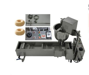 VENTA CALIENTE Comercial de acero inoxidable Donut Maker Electric 110V 220V automático Donut Donut Machine Maker freidora