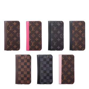 Casos de telefone Designer de luxo para iphone 11 pro couro caso max PU caso de telefone carteira de cartão de slot de Marca tampa do telefone para iphone XR MAX X XR 7