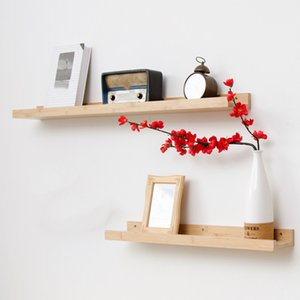 Photo Picture Ledge Living Room Bamboo Floating Organizer Eco-friendly Books Wall Shelf Storage Holders Display Home Home Decor