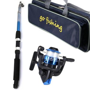 Telescopic Fishing Rod Reel Combo Full Kit Fishing Rod Gear Spinning Reel Line Lures Hooks With Bag For Beginner Fishing Supply4