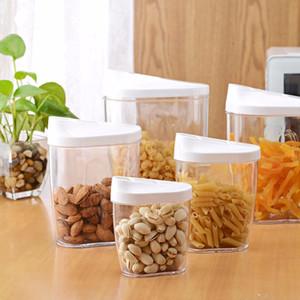 Şeker Çay Kahve Pirinç Mutfak Depolama için Hava geçirmez Kapaklı Set 5Piece Kilitleme Şeffaf Akrilik Plastik Gıda Saklama Kavanozları bidon Şişeler