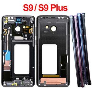 Per Samsung Galaxy S9 G960F S9 + S9 Inoltre G965F medio Frame Housing frontalino pagina del telaio con il lato Parti Pulsanti di ricambio