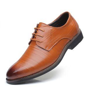Hot Sale-es Mode cuir formel marié chaussures de mariage Hommes Oxford Chaussures Robe Grandes tailles 38-48