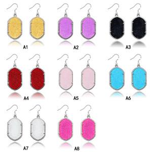 Luxe géométrique Boucles d'oreilles Lustre Grand grand long acrylique Dangle Boucles d'oreilles pour les femmes Créatrice de bijoux de mode cadeau