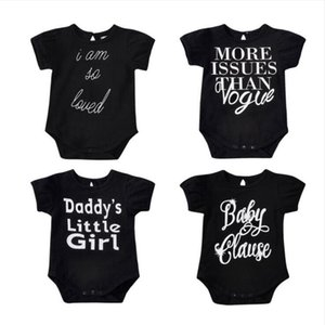 Newborn Rompers Baby Letter Printed Jumpsuits Boys Girls Summer Short Sleeve Onesies Infant Cotton Soft Bodysuit Climb Clothes BYP633
