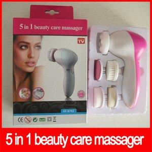 Depuradores de múltiples funciones eléctrico de la cara 5 en 1 cuidado de la belleza de la piel Spa masajeador instrumento Cuidado de limpieza Limpieza facial envío libre